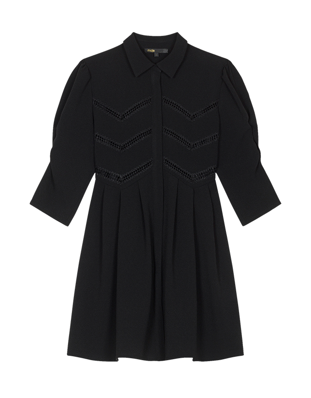 Shirt dress with braid trim - Dresses - MAJE